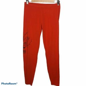 American Apparel Red Alvin Ailey Cotton Leggings